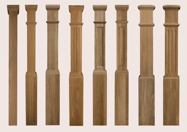 Квадратные заходные столбы-коробки | Все для лестниц