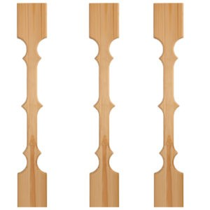 Балясина плоская из сосны для лестницы | Все для лестниц