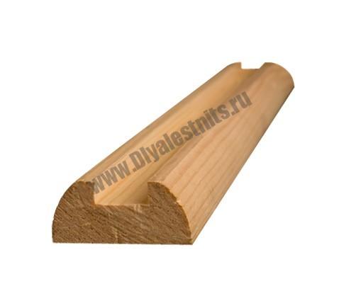Подбалясеник из сосны для плоских балясин | Все для лестниц